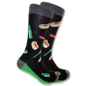 ballpark-hotdog-socks-black