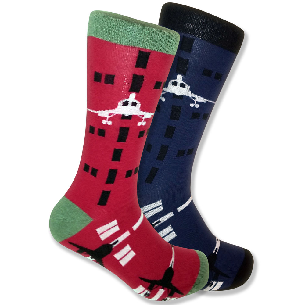 http://www.uncommonfeet.com/shop/mismatched-airplane-pilot-socks-men-blue-red/