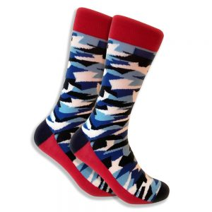 camo-sock-blue-white-black-red