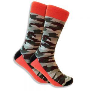 camo-sock-brown-orange-black