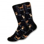 dog-sock-black