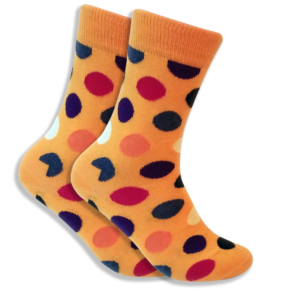 Mismatched Socks With Polka Dots