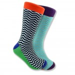 Men's Mismatched Wave Socks