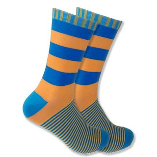 Orange & Blue Stripes