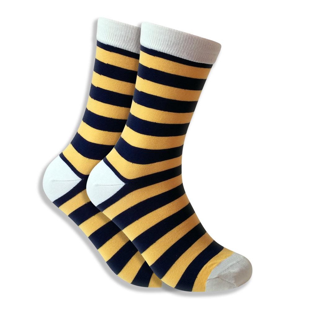Men's Bumblebee Socks - Yellow & Brown Stripes
