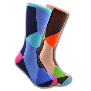 Mismatched abstract art socks for men